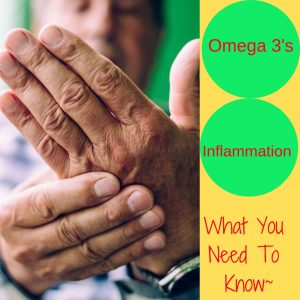 Omega 3's and Inflammation ~ What you need to know, hand with inflammation