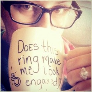 engaged saying